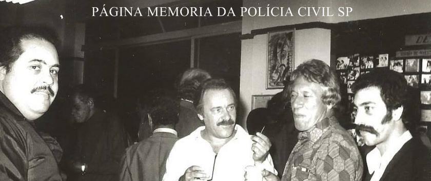 """Investigadores de Polícia da DIG- DEIC, em 1.977, Nogueira """"in memorian"""", Gilberto Rangel, Nelson Rossato e Claudio Hilário de Souza """"Claudinho Português""""."""