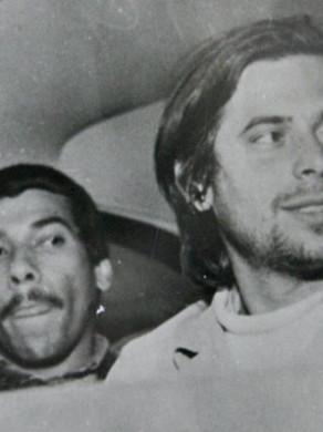 """O Investigador de Polícia Herwin de Barros, o """"Brucutú"""" logo após a prisão de José Dirceu, em 1.968. — com Herwin de Barros."""