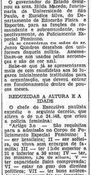 Em maio de 1955 cem moças se apresentaram p/ formar a recém criada Polícia Civil Feminina de São Paulo!