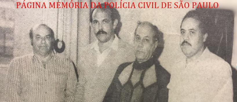 Delegacia de Repreensão à Vadiagem da DIG- DEIC, em 1981. Investigadores X, Cypriano, Elias Barudi e Nogueira.