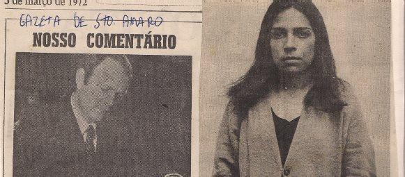 Delegado de Polícia Titular do 11º DP, Roberto Julião e Investigadores Rener, Paulo Anderaus e Luiz Tanoeiro, em reportagem de março de 1.972 do Jornal Gazeta de Santo Amaro.