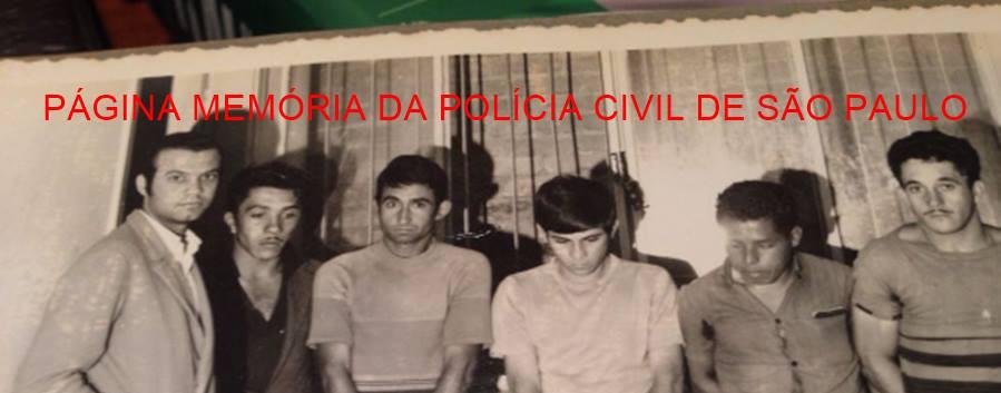 Delegado Djahy Tucci Junior, quando Investigador, com arrombadores de residências presos em Bragança Paulista, em 1.972.