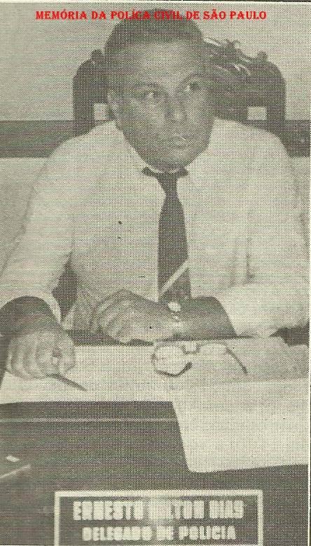 "Delegado de Polícia Ernesto Milton Dias ""in memorian"", em dezembro de 1.988."