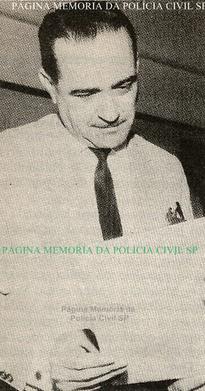 """Delegado de Polícia Titular do 3º DP do DEGRAN. Wilson José Minervino, na década de 50/60. Foi uma lenda da chamada região da """"Boca do Lixo"""" ou """"Quadrilátero do Pecado"""".."""
