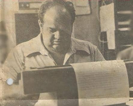 "O saudoso Chefe dos Investigadores de Campinas, Airton ""Boi"", no início da década de 80."