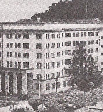 Palácio da Polícia de Santos, abrigava a Delegacia Auxiliar da Sétima Divisão Policial (Sétima Auxiliar), em 1.956.