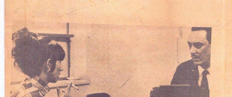 Chefe de Seção da Delegacia de Segurança Pessoal (atual DHPP) Arthur Velloso, em outubro de 1967.