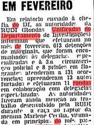 """Nos anos sessenta, quando a ROTA nem sonhava em nascer, só dava a RUDI nas ruas de São Paulo! Só ela, 613 prisões num mês! RUDI, a saudosa """"TEMPESTADE""""!"""