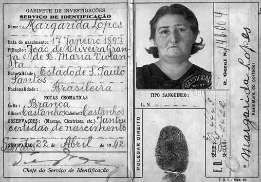 Documento de Identidade em 1.942.