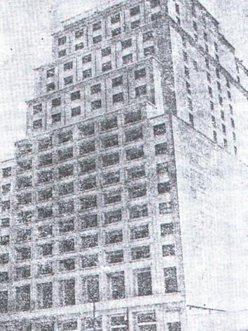 Antiga imagem do Palácio da Polícia, na Capital.