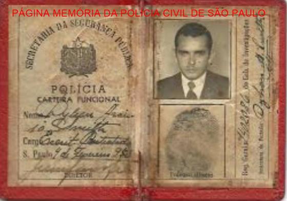 Carteira funcional de escriturário contratado de Dilson Araújo Smith (posteriormente um Investigador de destaque), expedida em 1.953.