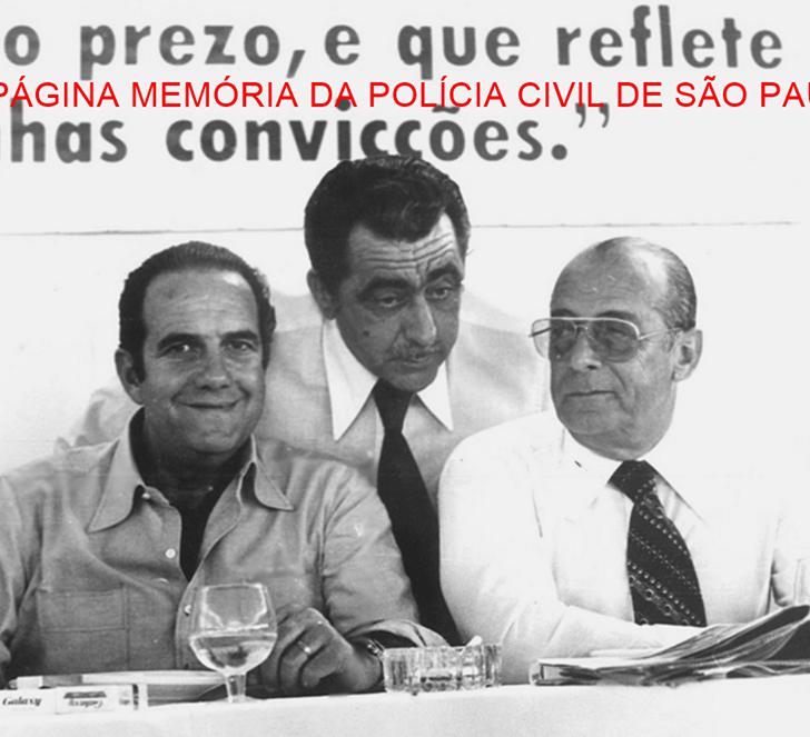 O Governador do Estado de São Paulo Paulo Egydio Martins e o Presidente da República General João Baptista Figueiredo, visitando a região do Vale do Paraíba, ao centro o prefeito do Município de Casa Branca/SP, Delegado de Polícia Marco César Aga, em 1.979.