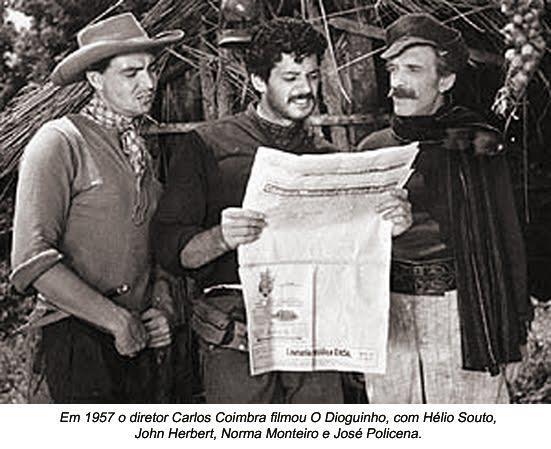 """O segundo filme sobre o famigerado assassino """"Dioguinho"""" em 1.957, com Hélio Souto, John Herbert, Norma Monteiro e José Policena. http://www.youtube.com/watch?v=WfYLvXZvPsI"""