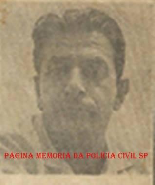 """Investigador de Polícia DI- DEIC, Angelino Moliterno, """"Russinho"""", nas décadas de 50, 60 e 70."""