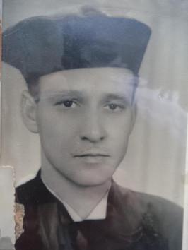 """Foto da formatura do Delegado de Polícia Guaracy Moreira """"in memorian"""", década de 40. (acervo da neta, Investigadora do 10º DP Priscilla Moreira)."""