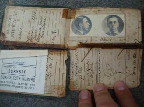 Carteira de Identidade de São Paulo de 1.903.