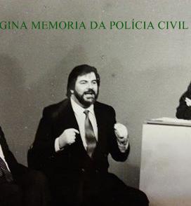 Grandes repórteres policiais Percival de Souza e Afanásio Afanasio Jazadji, em debate sobre violência com a jornalista Elis Marina, na década de 80.