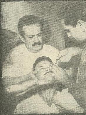 Orlando Criscuolo, um dos repórteres policiais mais famosos das décadas de 50, 60 e 70. Trabalhou no Diário da Noite e nesta foto, produziu várias reportagem com o medium Zé Arigo