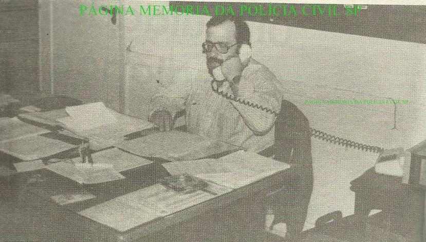 Investigador de Polícia Chefe da Delegacia de Furto de Autos do DEIC Sérgio Bastos Lugão, em 1.988.