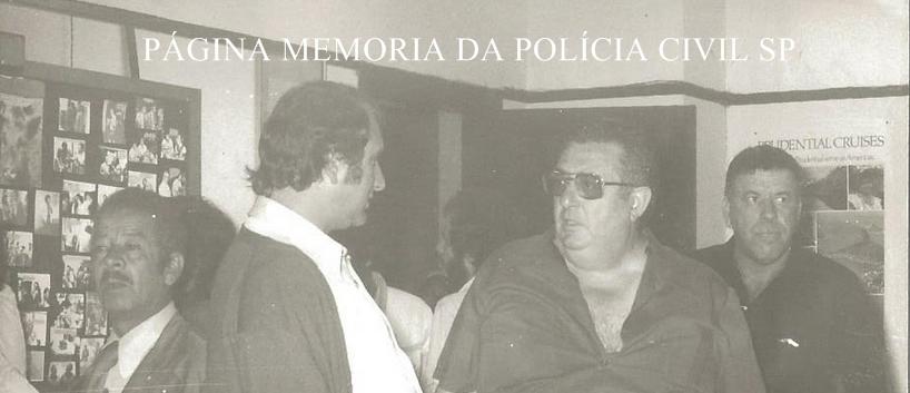"""O grande Camarguinho e Investigadores Brugunholi, Galdi e Ivo """"Beiço de Burro""""."""