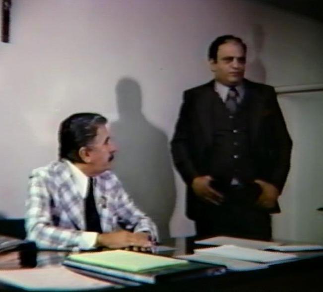 """Fragmento do longa metragem policial """"O OUTRO LADO DO CRIME"""", de 1978, no qual foi protagonista o lendário repórter policial, GIL GOMES! Acervo: Marcelo Lessa."""