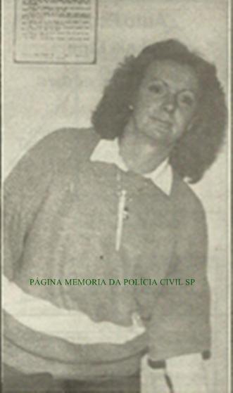 Investigadora de Polícia Terezinha da DIG- DEIC, na década de 80.