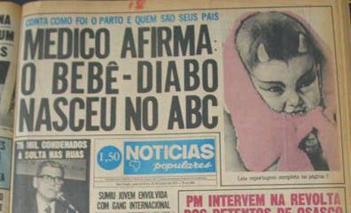 """Manchetes do Jornal """"Notícias Populares"""" nas décadas de 70 e 80."""