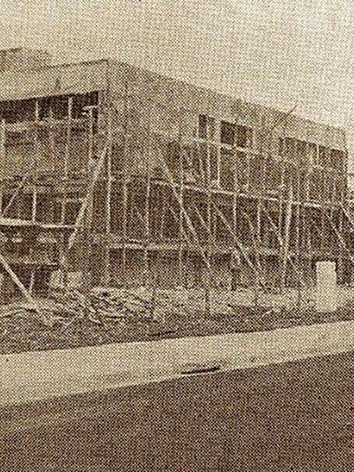 Construção da Delegacia de Polícia de Jundiaí, na Avenida 9 de Julho.