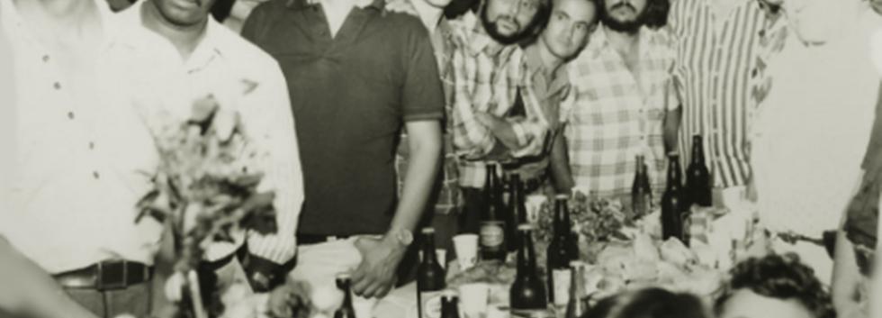 Policiais da DIG- Divisão de Investigações Gerais do DEIC, em 1.978. À partira da esquerda, Investigadores Adauto, Lamartine,?,Franck, Aroldo,?, Januci, Clezo e Boselli.