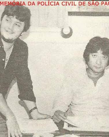 Investigadores Coelho e Aldo, do antigo DEGRAN (hoje DECAP), década de 80. O Aldo anteriormente foi Operador de Telecomunicações da DISCCPAT- DEIC.