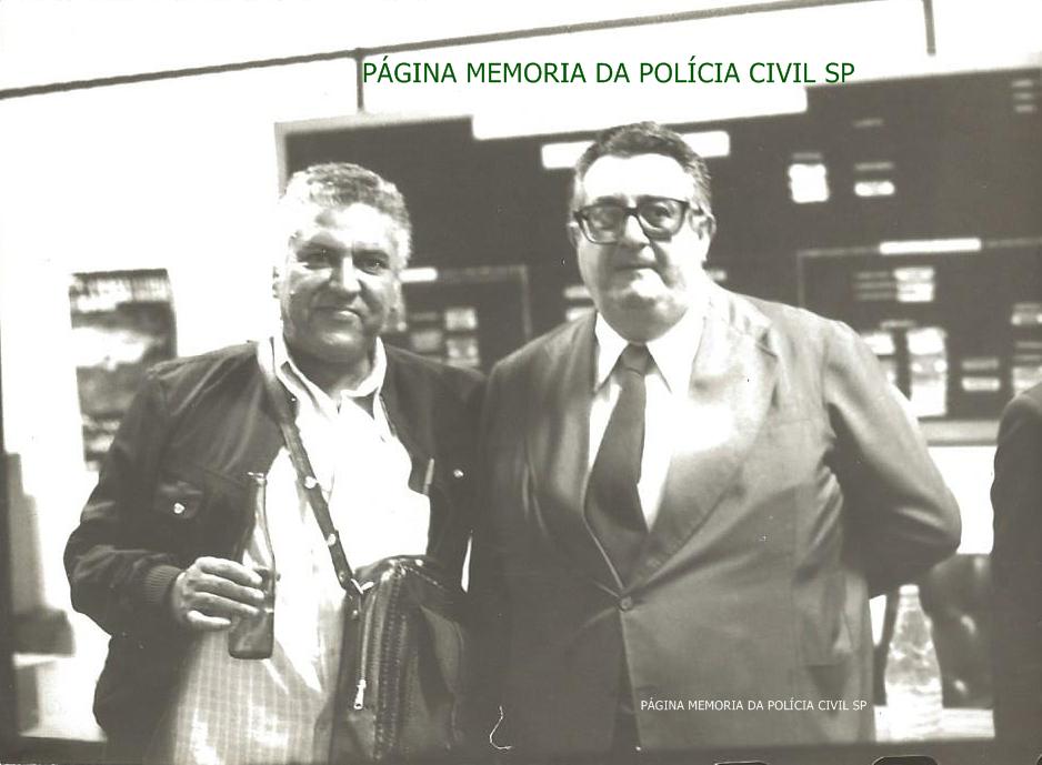 Investigadores da antiga Delegacia de Vadiagem da DIG- DEIC, Horácio e Galdi, em 1.977.