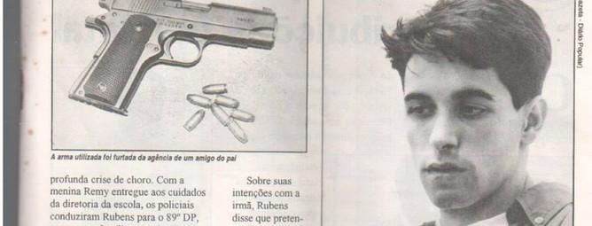 Reportagem de 1994, do Jornal Diário Popular, sobre um indivíduo que sequestrou a própria irmã, sendo preso pela Delegada de Polícia Lenita Queiroz Seta; e os Investigadores Osvaldinho e Sérgio. (2ª parte da matéria).