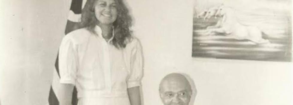 Delegacia Seccional de Jundiaí, no final da década de 80. Delegados Clóvis Arnaldo Sprosser e Martha Rocha de Castro.