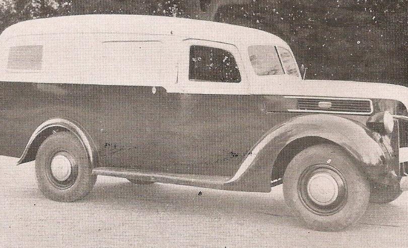 Viatura da Polícia Civil em 1944. Acervo do delegado de polícia Marcelo Lessa.