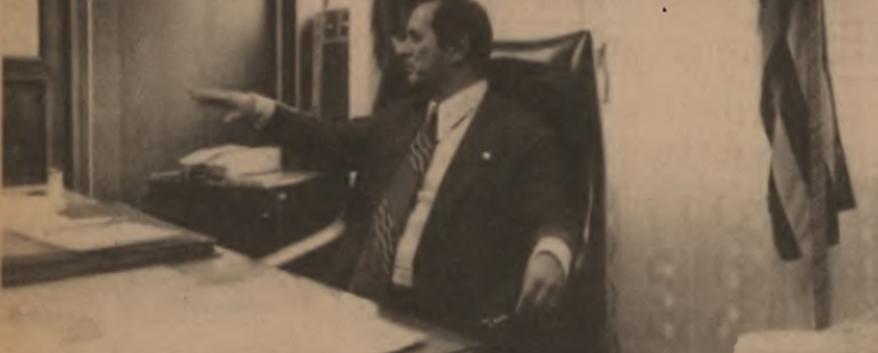 Delegado Regional de Santos, Furquim de Almeida, no início da década de 80.