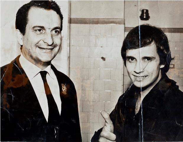 Delegado Paulo Bonchristiano com o cantor Roberto Carlos.