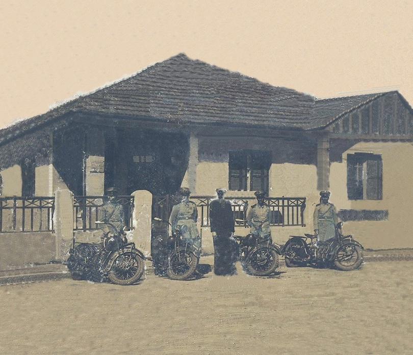 Motocicletas da extinta Guarda Civil do Estado de São Paulo, na década de 50.