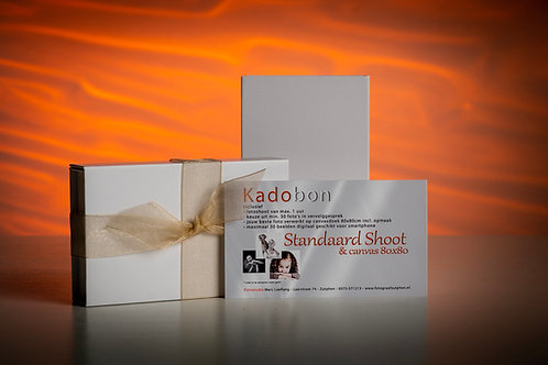 Kadobon Standaard Shoot Canvas 80x80cm