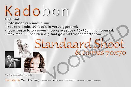 Standaard Shoot Canvas 70x70cm