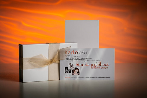 Kadobon Standaard Shoot Collage Bloxit 72x72cm