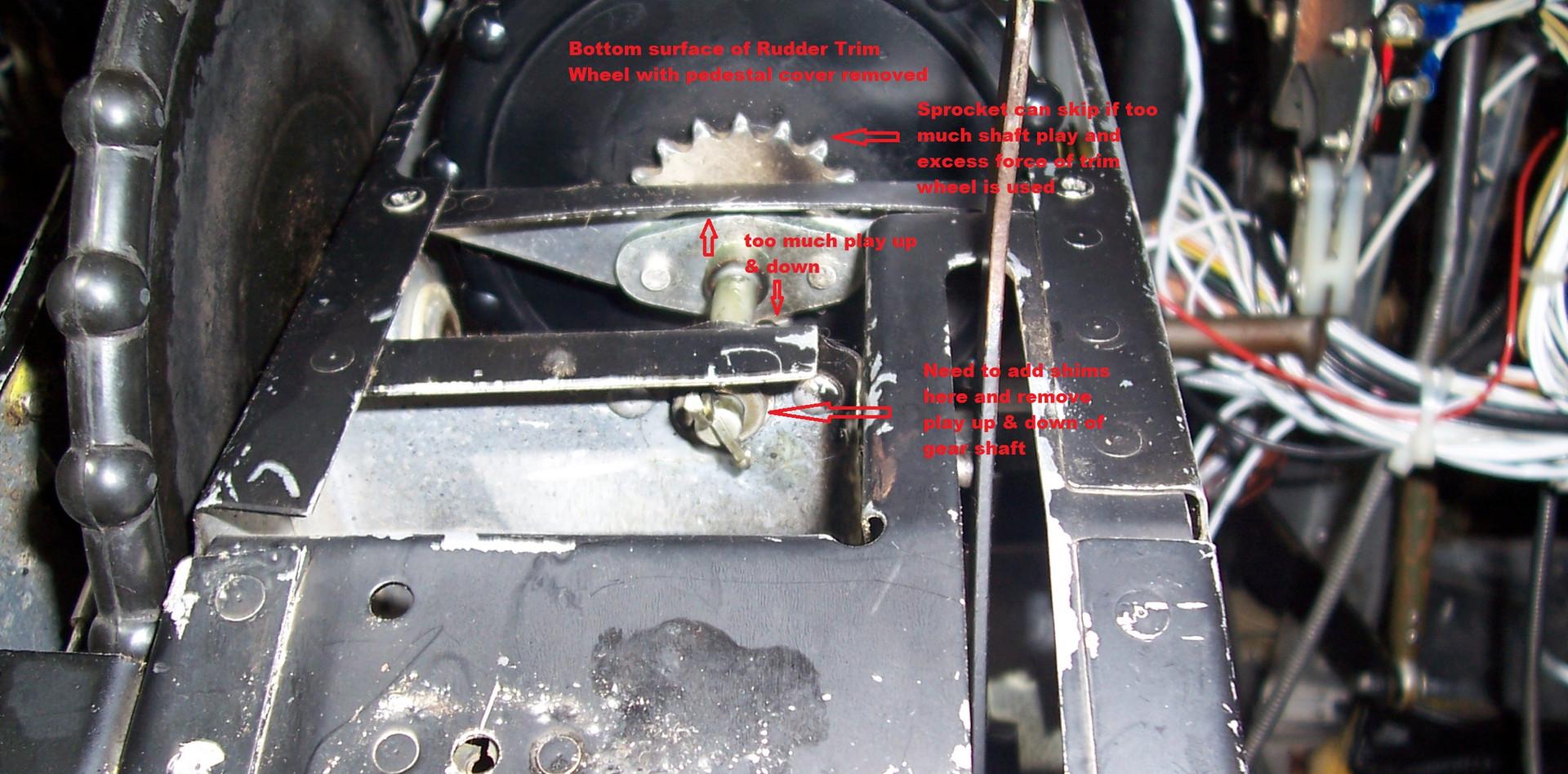 Rudder Trim Wheel problems.