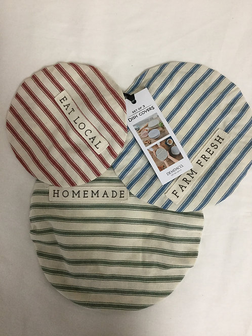 Set of 3 eco friendly dish covers