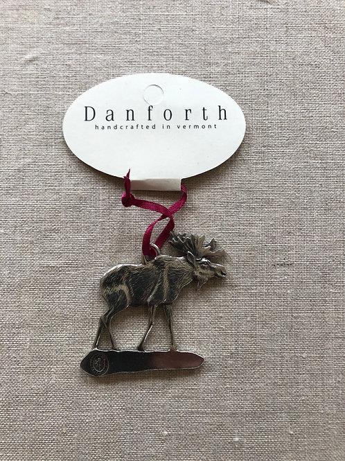 Pewter moose ornament