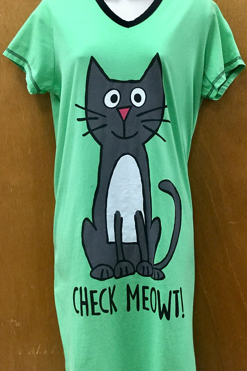 Cat night shirt