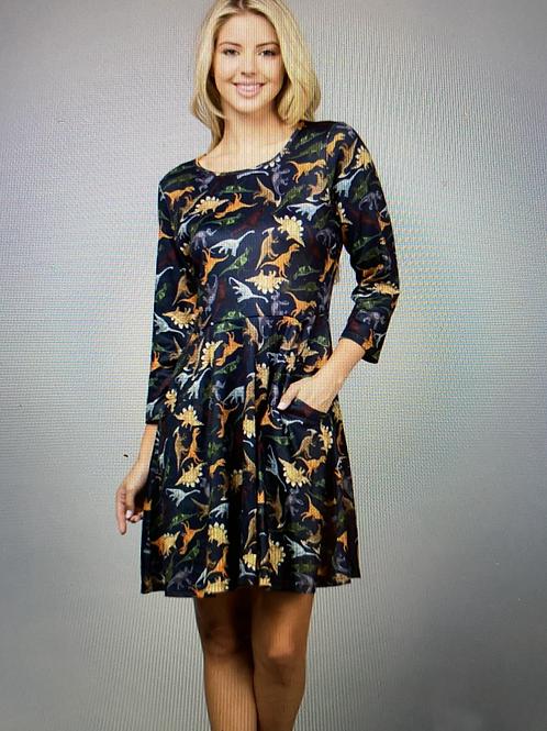 The 'dinosaur' dress