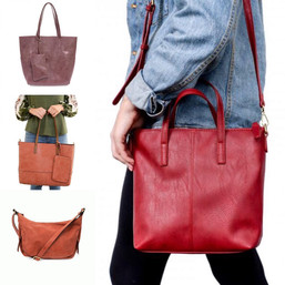 Colorful Assortment of vegan totes and bags.