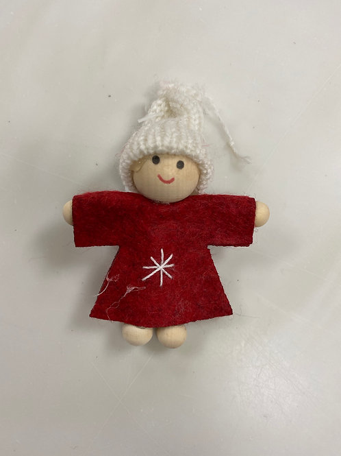 Felted knit ornament