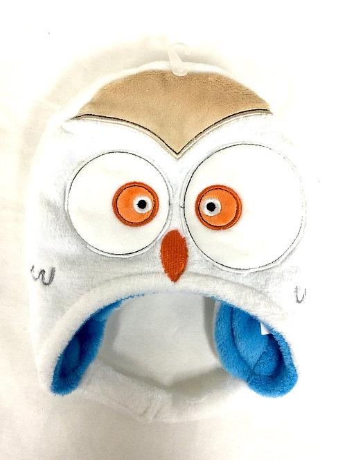 Reversible fleece owl baby hat