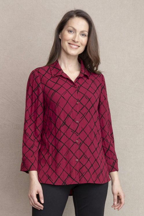 Habitat cabernet slightly shaped shirt