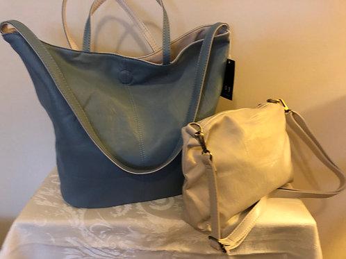 Reversible tote and shoulder bag